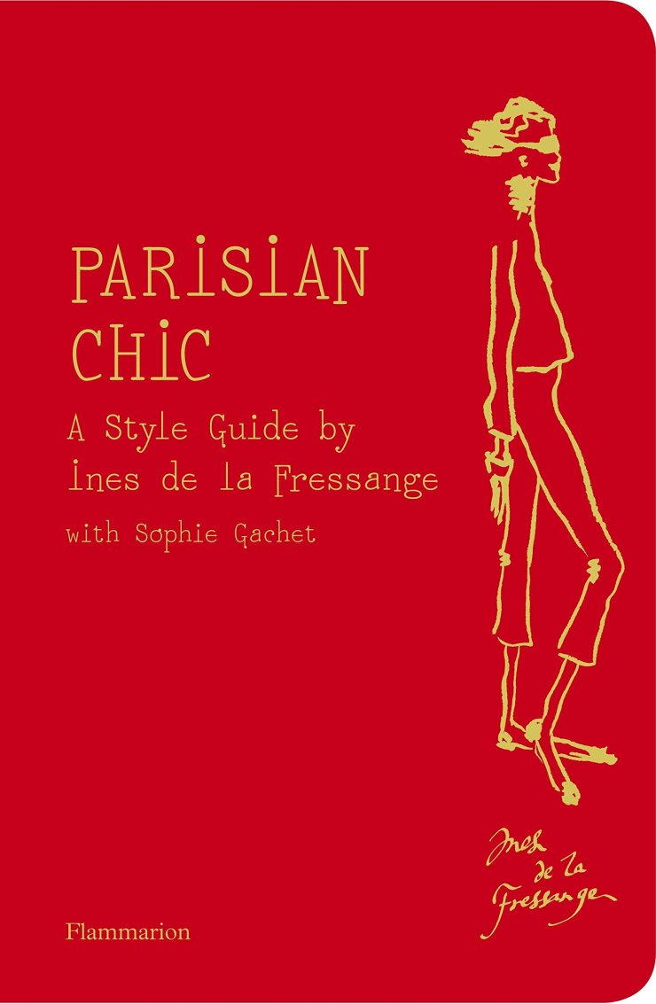 Parisian Chic book cover, red with golden letters
