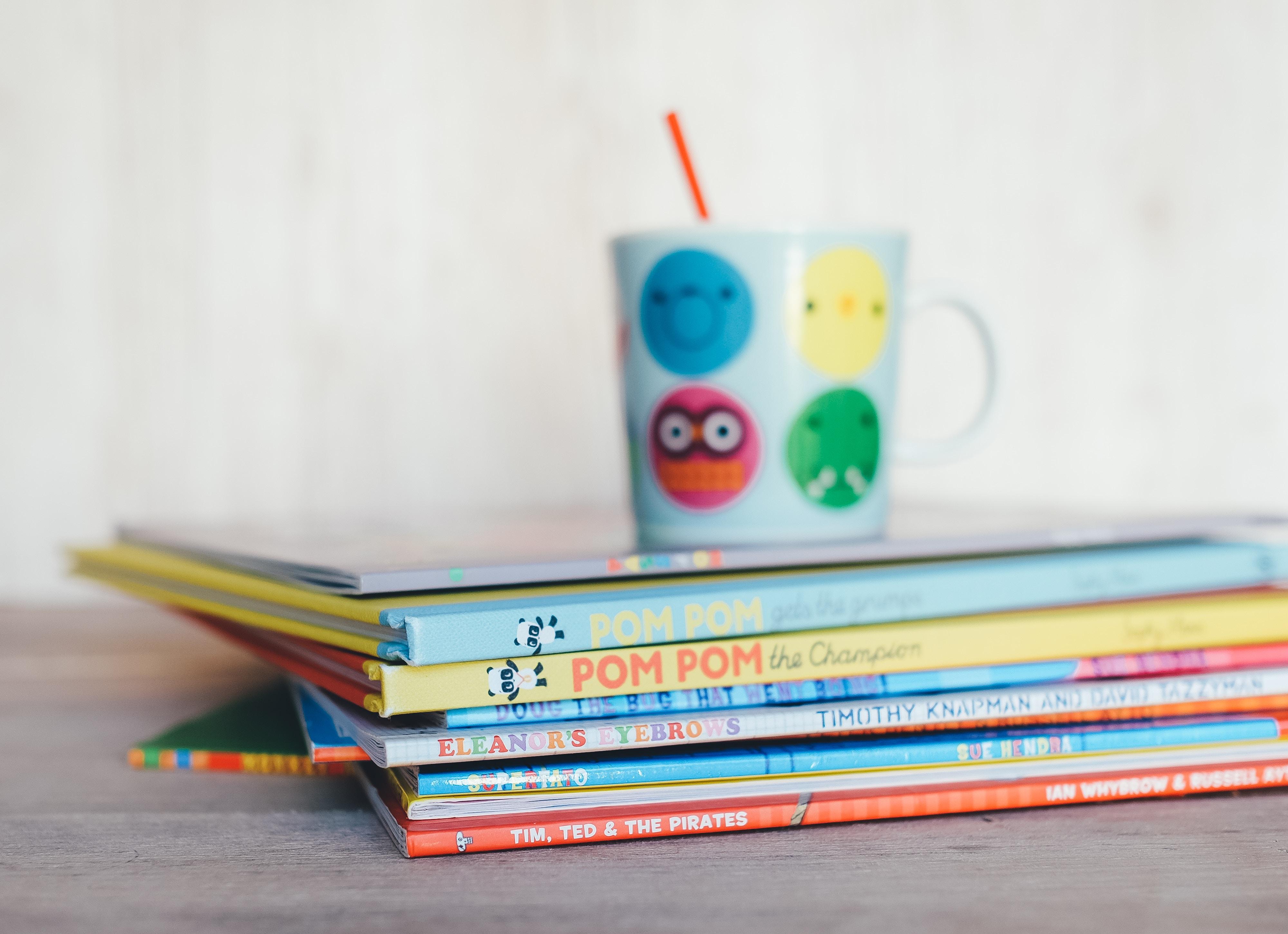 Colourful children's books.
