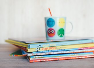 Colourful children's books.