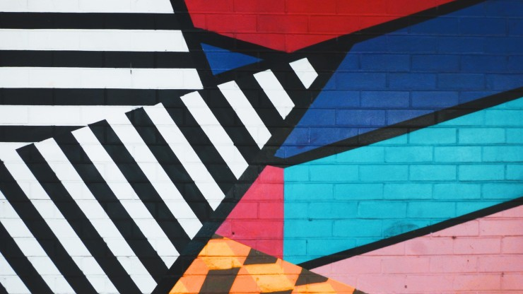 Graphic art on wall