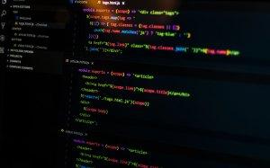 html on black screen