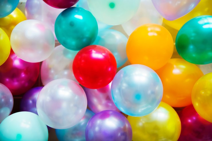 Colourful balloons. Happy New Year! Happy Moments!